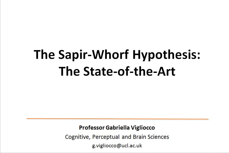 a brief sapir whorf hypothesis I will begin with a brief review of the dominant conceptions of language and cognition in linguistic relativity research 108 reformulating the sapir-whorf hypothesis.